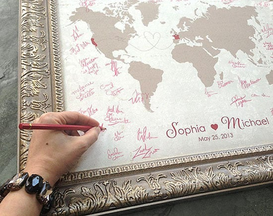 10 Creative Wedding Guest Book Ideas: Wedding Guest Book Map