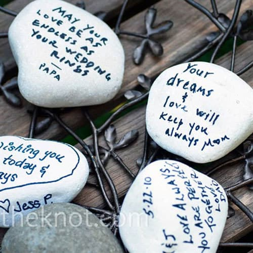 10 Creative Guest Book Ideas: Rocks