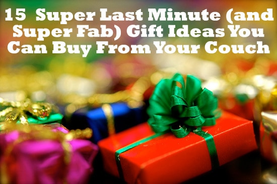15 Super Last Minute Gift Ideas via FantabulouslyFrugal.com