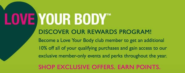 The Body Shop Love Your Body Rewards