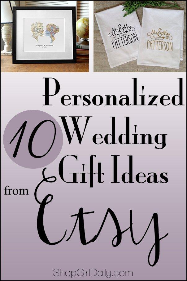 Wedding Wednesday: Personalized Wedding Gift Ideas from Etsy ...