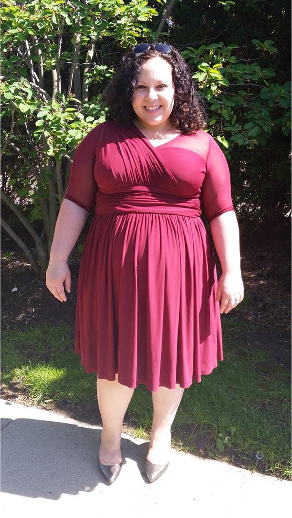 Kiyonna Modern Mesh Dress