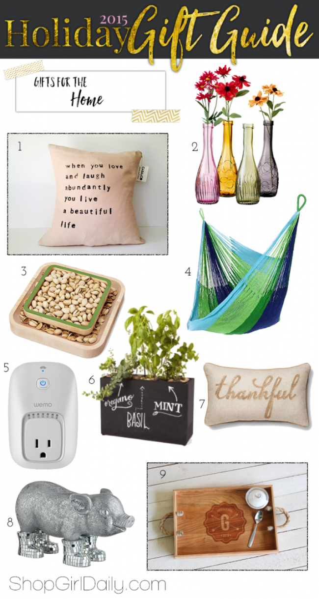 2015 Holiday Gift Guide: Home Gifts | ShopGirlDaily.com