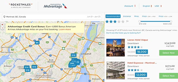 Rocketmiles and American Airlines