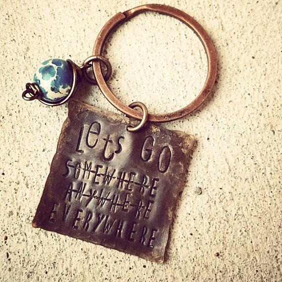 Let's Go Everywhere Keychain