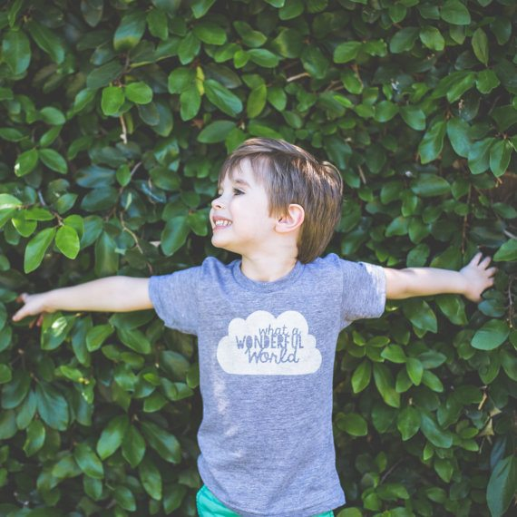 What a Wonderful World Tee from Plucky Mustard