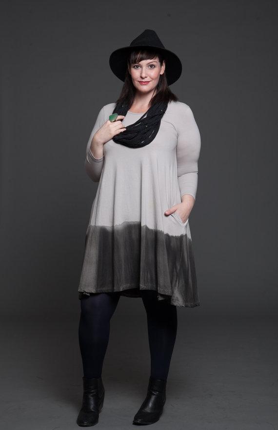 Plus Size Boho Winter Dress