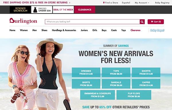 Online Off-Price Stores: Burlington Coat Factory