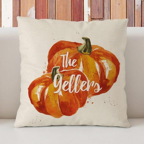 Personalized Pumpkin Pillow