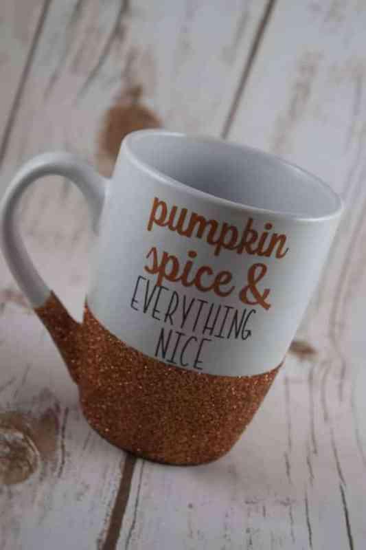 Pumpkin Glitter Mug