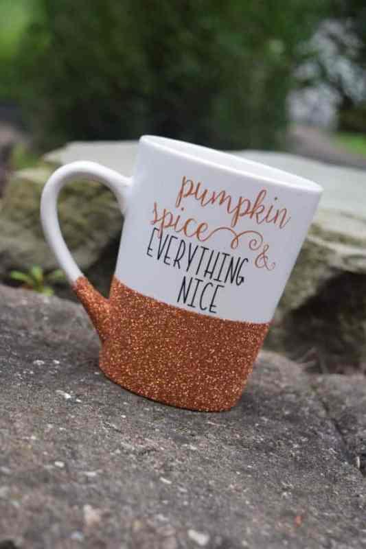Pumpkin Spice Glitter Mug