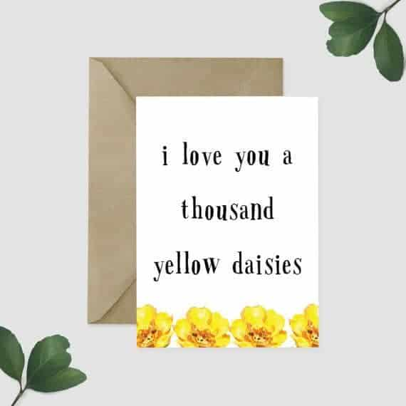I Love You a Thousand Daisies Card