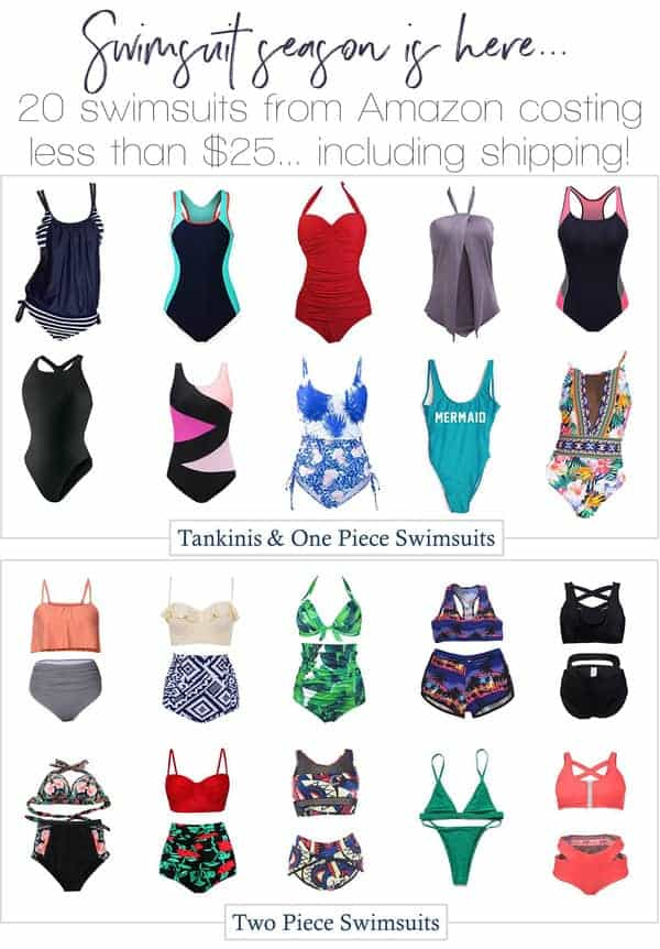 Swimsuits from Amazon under $25