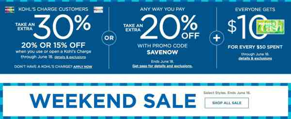 Save big at Kohl's with sales and coupons!