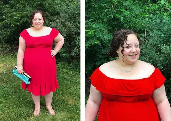 Red dress from T.J. Maxx