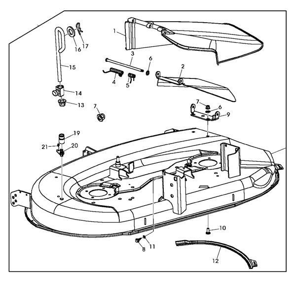 John Deere Stx46 Wiring Diagram John Deere Replacement 42 Inch Mower Deck Housing Gy22226