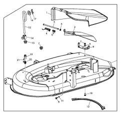 John Deere 210 Lawn Tractor Wiring Diagram Robertshaw Oven Thermostat La 100 Mower Great Installation Of Replacement 42 Inch Deck Housing Gy22226 Rh Shopgreendealer Com 110 Garden L135s
