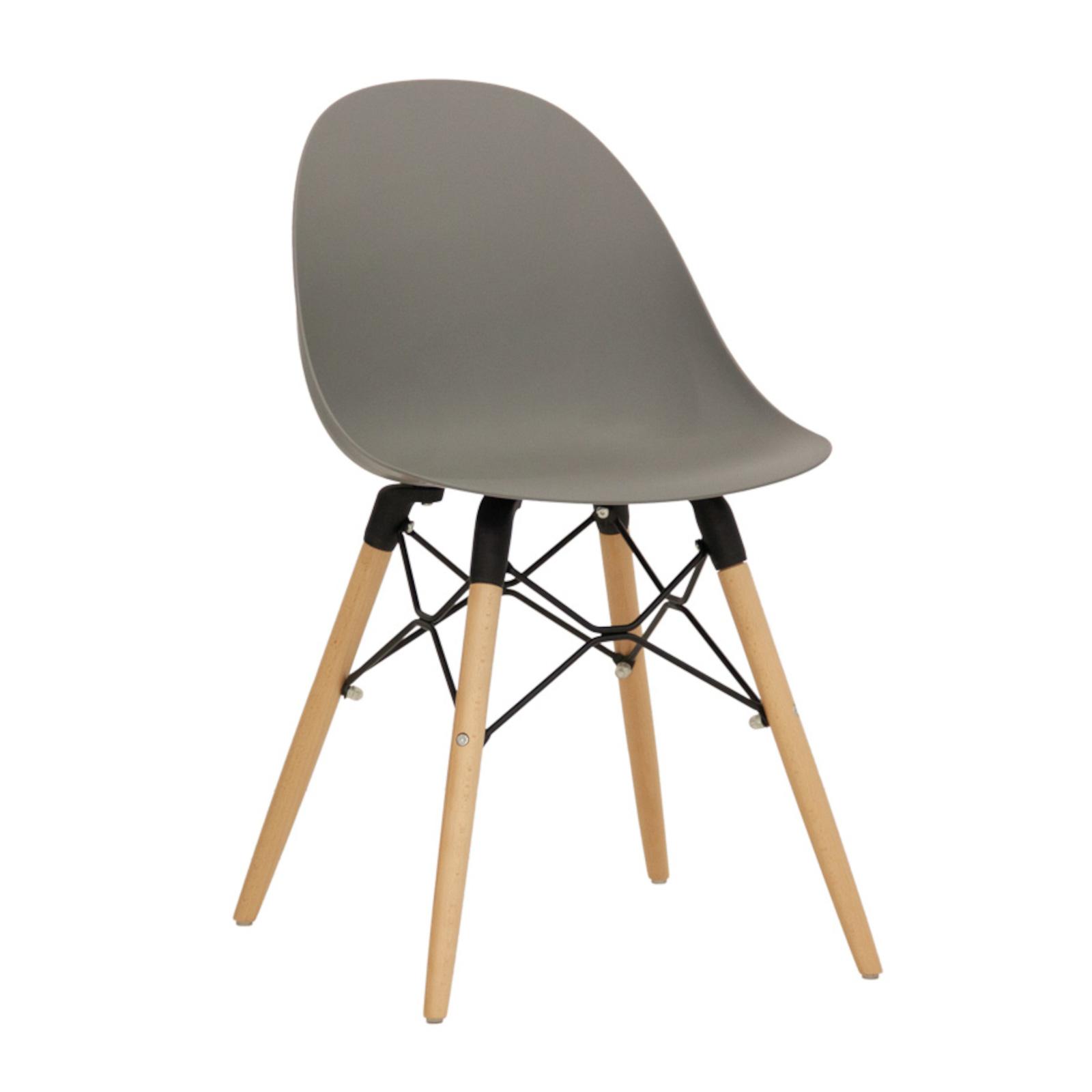 Sedie di design in legno per soggiorno con seduta in legno o imbottita, sedie con bracciolo, sedie in legno pieghevoli adatte per l'interno che per. Sedia Moderna Con Scocca In Polipropilene E Gambe In Legno