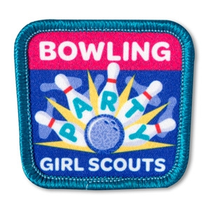 Sew On Bowling Party Fun Patch