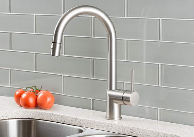 kitchen faucets stainless steel cabinet images hahn ultra modern single lever pull down faucet
