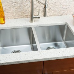Hahn Kitchen Sinks Cafe Curtains Hahn-small-radius-extra-large-equal-double-bowl-sink.jpg