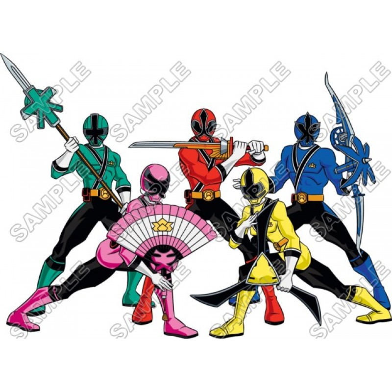 power rangers samurai t shirt iron on transfer decal 3