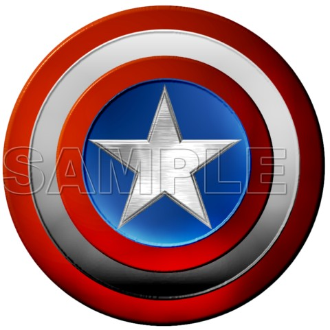 Captain America Logo T Shirt Iron On Transfer Decal 2