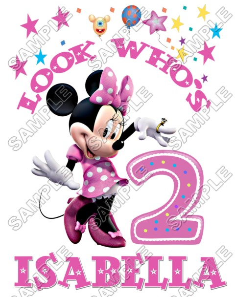 Minnie Mouse Birthday Personalized Custom T Shirt Iron On