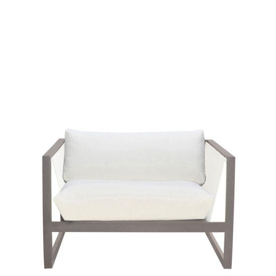 steel lounge chair navana revolving sand mesh earth white janus et cie