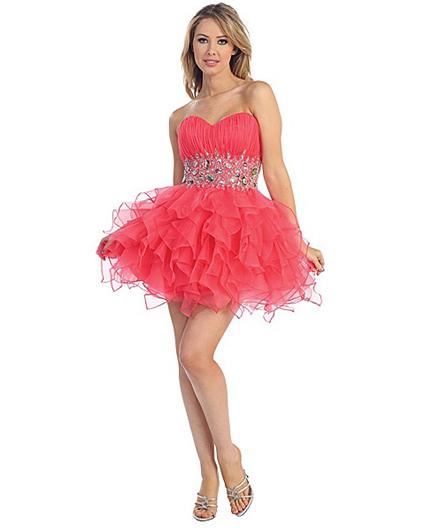short organza puffy dress