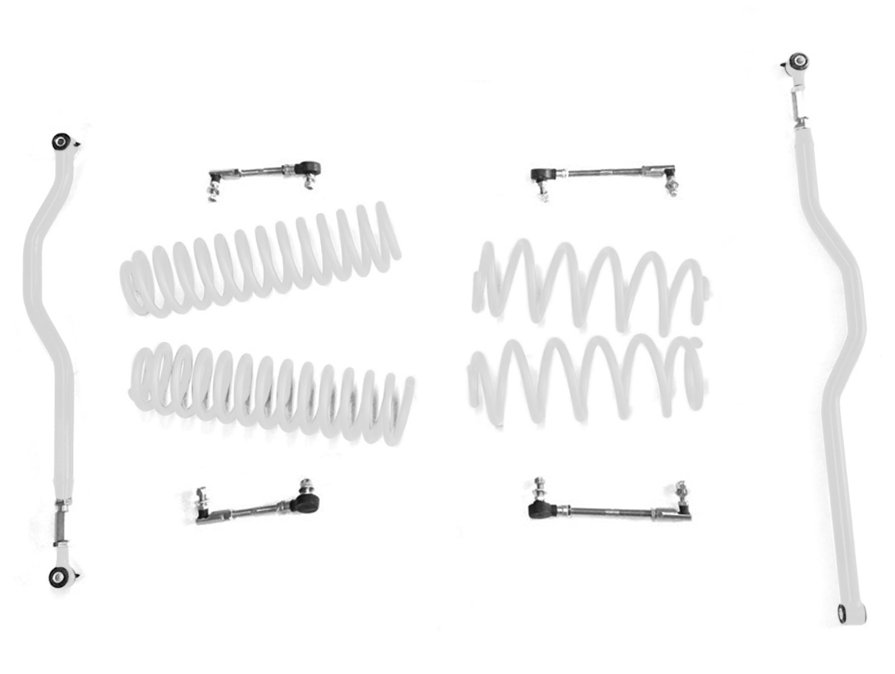 2.5 inch Basic Lift Kit Jeep JK Wranglers Cloud White J0046705