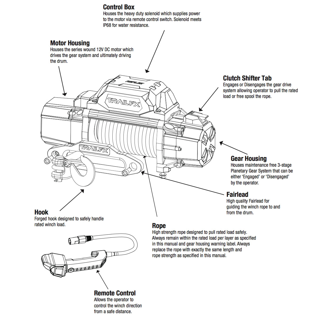 hight resolution of 9500 lbs electric jeep winch with synthetic rope