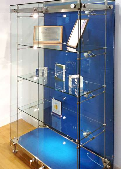 Glass Trophy Cabinets custom made and Installed  Shopkit