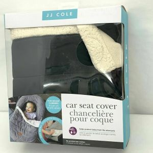 JJ Cole Car Seat Cover – Black And Sherpa Blanket Style Machine Washable 1C2