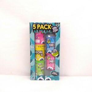 5 Pack squishy fun by compound Kings. We cool toys. Stretch like compound