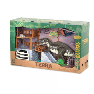 Terra by Battat: Jungle Expedition Big Playset Electronic Dinosaur Acrocant NEW!