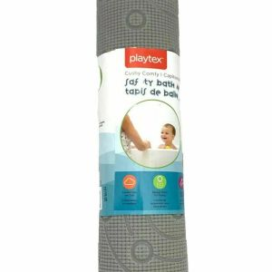 Playtex Cushy Comfy Safety Bath Mat, Grey non slip non skid bath tub baby mat