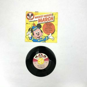 1975 DISNEYLAND 45 rpm record MICKEY MOUSE CLUB MARCH w/ sleeve RARE