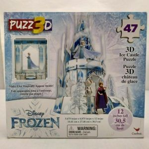 Disney Frozen 3D Elsa Hologram Ice Castle Puzzle 47 Pieces 12 in Tall, NEW