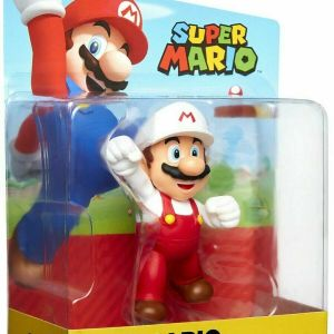 World of Nintendo Super Mario FIRE MARIO Wave 19 2.5-Inch Mini Figure FIST BUMP