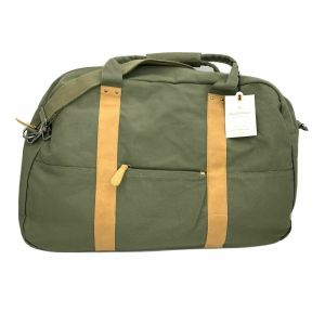 Large Green Canvas and Leather Weekender Bag NWT Hearth and Hand with Magnolia