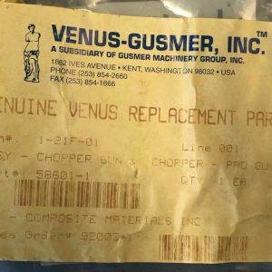 Venus Gusmer Parts Kit 58601-1 For Chopper pro gun 900