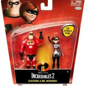 Disney  INCREDIBLES 2 ELASTIGIRL & MR. INCREDIBLE Action Figures 2 Pack