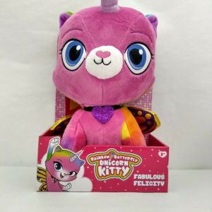 "Rainbow Butterfly Unicorn Kitty Fabulous Felicity Huggable 14"" Plush Toy"