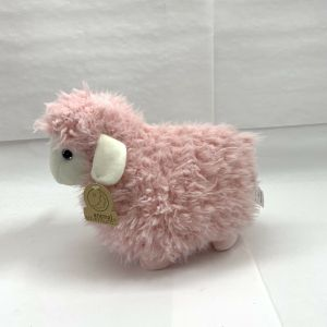 "Animal Adventure 2020 Plush Lamb  9.5""H Plush Stuffed Cuddly Toy Pink"