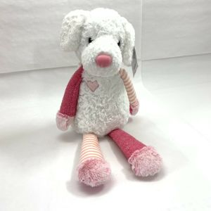 "Aurora World Purely Luxe Plush Stuffed Dog Soft Puppy Toy White Pink 20"" – NEW"