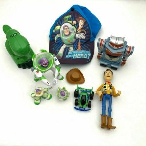 Lot of Toy Story Toys – Buzz Lightyear – Woody – RC – Rex – Sparks