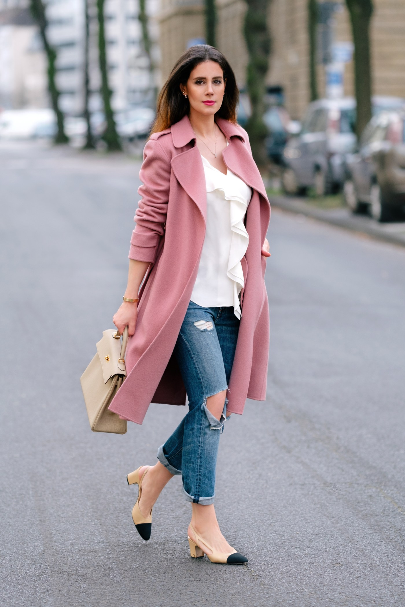 theory-pink-oaklane-coat