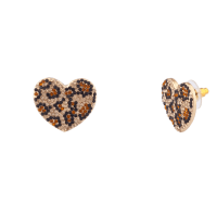 Leopard Stud Earrings Rainbery Large Acrylic Leopard Round