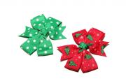 christmas tree red green polka